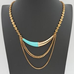 Silpada KR Brass and Turquoise Layered Necklace